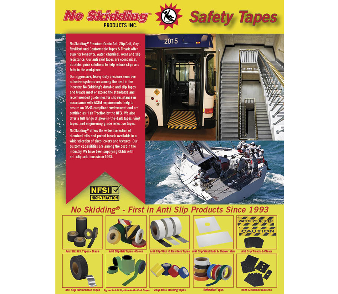 No Skidding Tape catalogue